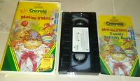 VHS Crayola Presents the Adventures of Mouse  Mole 1997 Hard Cover Box