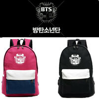 My Love Fashion BTS Backpack KPOP Bangtan Boys Schoolbag Satchel Student Bookbag