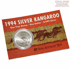 1994 Royal Australian Mint Uncirculated Specimen $1 Silver Frosted Coin - 1 oz