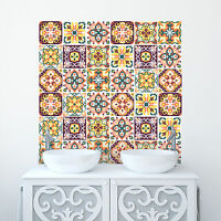 Traditional Tile Sticker Moroccan Transfer Decal For Kitchen Bathroom DIY - T8
