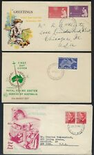 AUSTRALIA 1950s COLLECTION OF 20 DIFFERENT FDCs ALL WITH COLOR CACHETS INCLUDING