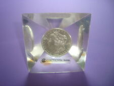 CONTINENTAL Bank Hoard 1881-S Morgan Silver Dollar Encapsulated in Acrylic *