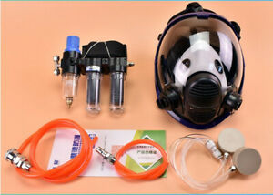 Painting Safety Supplied Air Fed Respirator System For 6800 Full Face Gas Mask