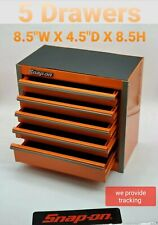 Snap-On Tool Box Miniature stationary bottom Cabinet In ELECTRIC ORANGE New !!!!