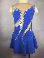 New Girl Blue Ice Figure Skating Dress Figure skaitng Dress For Competition