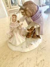 Love's First Touch Beauty And The Beast Disney Lenox Showcase Figurine -Coa