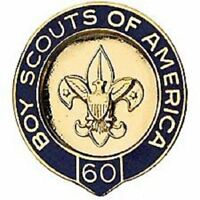 BOY SCOUTS OF AMERICA 60 YEAR VETERAN PIN BSA OFFICIAL OA JAMBOREE CAMP TRADING