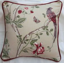 """cushion cover laura Summer Palace Cranberry 16""""(piped  cranberry )"""