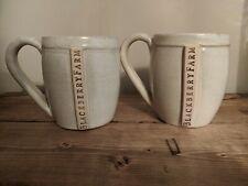 Blackberry Farm Resort Tennessee Set Of 2 Mugs Handmade By Local Pottery