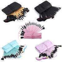 32Pcs/Set Makeup Brushes Set Cosmetic Kabuki Face Lip Brush With Pouch Bag US