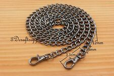 Purse chain metal purse chain metal purse chain gunmetal 120cm T8