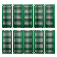 10x Double sided Protoboard 3x7cm PCB Universal Experiment Matrix Breadboard