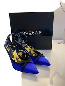 ROCHAS Paris Blue Satin 39.5