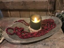 Primitive Dried Cranberry Garland 11 1/2 FEET  Early Look Christmas Homestead