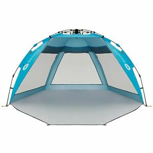 Easthills Outdoors Coastview Ultra 4-5 person Beach Tent Shelter in Pacific Blue
