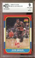 1986-87 Fleer #26 Clyde Drexler Rookie Card BGS BCCG 9 Near Mint+