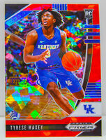 Tyrese Maxey RC 2020-21 Red Cracked Ice Prizm Draft Picks 76ers Rookie Card #54