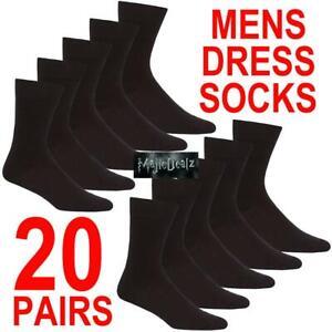 20 Pairs Mens Cotton Rich Dress Socks Size 6-11 Wholesale Job Lot