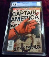 Captain America 25 (4/07) CGC 9.8 NM/MT White Pages -- Death of Steve Rogers