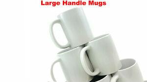 Sublimation Mug 36 11oz White Large Handle Mugs 6 Mugs in 1 Gift Box Package