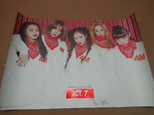 4MINUTE Official Poster Mini Album ACT.7 Ver Unfolded Hard Tube Case