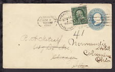 UNITED STATES 1898 HARRISBURG PA 1c Postal Stationery Uprated COVER (L459)