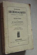 1862  NORMANDIE  L. QUENAULT  RECHERCHES ARCHEOLOGIQUES  VILLE DE COUTANCES