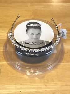 Davids Bridal Swarovski Crystal Tiara Headband NWT