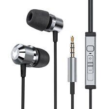 in-Ear Headset Magnet Sports Design Memory Foam Earphones Microphone Gray