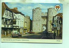 Hillman Super Minx Falstaff Inn Westgate Canterbury Kent unused 1960s postcard