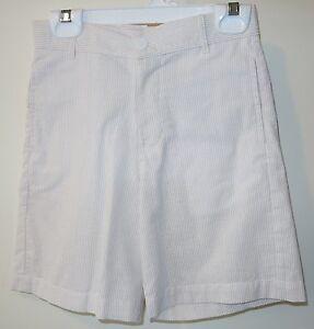 New With Tags Bella Bliss Wilson Khaki Stripe Seersucker Shorts Boy's Size 8