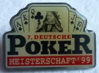POKER 7. DEUTSCHE MEISTERSCHAFT 1999 TEILNEHMER PIN