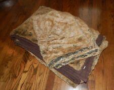 Set 78x86 Pottery Barn Faux Fur Blanket or Quilt Coverlet & 2 Shams!