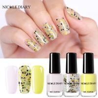 NICOLE DIARY 3Bottles 6ml Nail Polish Light Color Changing White Nail Varnish