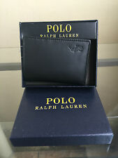 bagsclothesetc: NIB POLO RALPH LAUREN Tri-fold Genuine Leather Wallet - Black