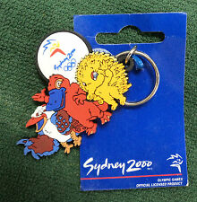 #T21.  #11.  SYDNEY 2000 OLYMPIC KEYRING - RUBBER MASCOTS