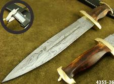 ALISTAR SUPERB HANDMADE DAMASCUS STEEL DOUBLE EDGE HUNTING DAGGER KNIFE 4355-36h