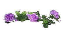 Lavender Lilac Rose Garland ~ Silk Wedding Flowers Arch Gazebo Decoration Vines