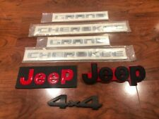 2014 2015 2016 2017 2018 2019 JEEP GRAND CHEROKEE FENDER AND HATCH EMBLEM SET RD