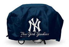 NY New York Yankees Economy Team Logo BBQ Gas Propane Grill Cover - NEW