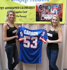 Harry Carson Signed Blue Custom Jersey - NY Giants HOF - Video of Signing Online