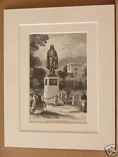 BUNYAN MONUMENT BEDFORD ANTIQUE MOUNTED ENGRAVING c1890