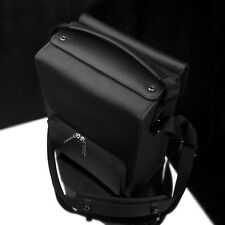 GARIZ Black Label Leather Camera Bag Black BL-ZBLBK Large Size
