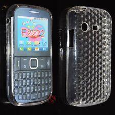 Cover Custodia Per SAMSUNG Chat Ch@t Dual Sim E2222 Silicone Trasparente Gel