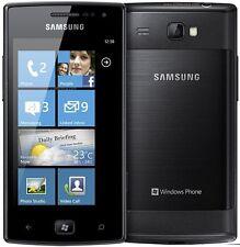 Pellicola+custodia BACK COVER NERA rigida per Samsung Omnia W I8350