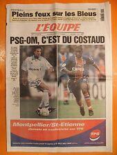L'équipe 16618 du 12/10/1999-PSG-OM, c'est du costaud-Pleins feux sur les Bleus