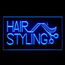 160050 Hair Styling Retro Vintage Modern Blonde Wave Display LED Light Sign