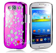New PINK FLOWER HARD Cover Case For SAMSUNG S3 S III i9300 + Screen Protector