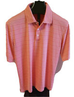 Cypress Golf polo short sleeve white & pink shirt men's Large.