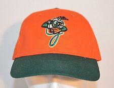 Greensboro Grasshoppers Orange Green Minor League Baseball Hat Cap Adjustable